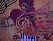 Trombone Painting Originals - Endless Grove by Billy  Smith