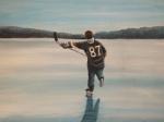 Hockey Painting Originals - Endless Ice - Sid the Kid by Ron  Genest