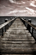 Mississippi Gulf Coast Posters - Endless Pier Poster by Gulf Island Photography and Images