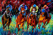 Race Horse Prints Framed Prints - Endurance Framed Print by Debra Hurd