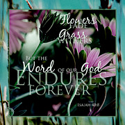 Beautiful Words Posters - Enduring Poster by Bonnie Bruno