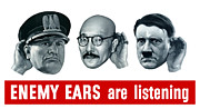 Ww2 Digital Art Metal Prints - Enemy Ears Are Listening Metal Print by War Is Hell Store