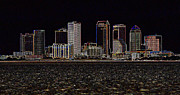 Tampa Skyline Photos - Energized Tampa - Digital Art by Carol Groenen