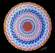 Mandalas Pastels Posters - Energy in Movement Poster by Marcia Lupo