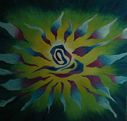 Star Burst Paintings - Energy Release by Joyce Hayes