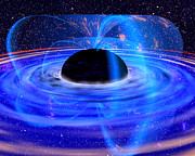 Warp Prints - Energy-releasing Black Hole Print by NASA / Science Source