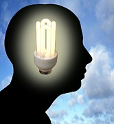 Human Head Photos - Energy Saving Ideas, Conceptual Image by Victor De Schwanberg