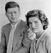 Future First Lady Posters - Engagement Portrait Of John Kennedy Poster by Everett