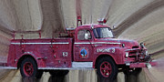 Old Trucks Photos - Engine 3 by Ernie Echols