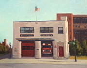 Boston Paintings - Engine 3 by Tommy Cherry