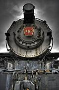 Locomotive Posters - Engine 460 Front and Center Poster by Scott  Wyatt