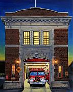 Paul Walsh Posters - Engine Company 10 Poster by Paul Walsh