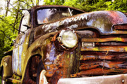 Old Trucks Art - Engine Room by Tom Griffithe