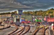 Sheds Prints - Engine Sheds Quainton Road Buckinghamshire Railway Print by Chris Thaxter