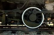 Trains Photos - Engine Wheel at Gorham by Ross Powell