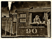 Strasburg Prints - Engineer at Strasburg Railroad Print by Jack Paolini