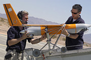 Headset Framed Prints - Engineers Mount A Scaneagle Unmanned Framed Print by Stocktrek Images