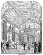 Ballroom Drawings Posters - England - Royal Ball 1848 Poster by Granger