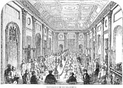 Dining Hall Prints - England: Banquet, 1853 Print by Granger