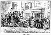 Coaching Prints - England: Coaching, 1876 Print by Granger