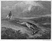 1833 Prints - England: Coursing, 1833 Print by Granger