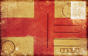 Weathered Prints - England Flag Postcard Print by Setsiri Silapasuwanchai