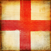 Draw Photos - England flag by Setsiri Silapasuwanchai