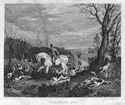 1833 Framed Prints - England: Fox Hunt, 1833 Framed Print by Granger
