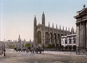 Photochrom Photos - England, Kings College, Cambridge by Everett