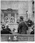 Trial Art - England: Law Court, 1882 by Granger