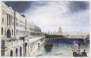 River Transportation Framed Prints - England: London, 1852 Framed Print by Granger