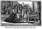 Warrant Prints - England: Martyr, 1550 Print by Granger