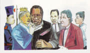 Religious Art Drawings - England Queen with Ajayi Crowther by Emmanuel Baliyanga