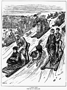 Sled Dog Framed Prints - England: Sledding, 1879 Framed Print by Granger