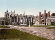 Photochrom Photos - England, Trinity College, Cambridge by Everett