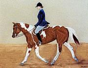Riding Pastels - English Attire by Jan Amiss