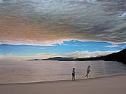 Clouds Sunset Painting Prints - English Bay Vancouver Print by Kenneth M  Kirsch