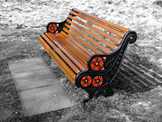 Benches Acrylic Prints - English Bench by Roberto Alamino