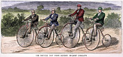 Groat Framed Prints - English Bicyclists, 1873 Framed Print by Granger