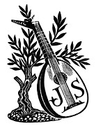 Lute Prints - English Bookplate Print by Granger