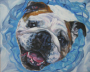 English Dog Posters - English Bulldog Poster by Lee Ann Shepard