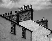 Chimneys Framed Prints - English Chimney Pots Framed Print by Joe Bonita