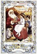 Santa Claus Posters - English Christmas Card Poster by Granger