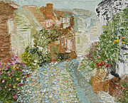 Impasto Oil Paintings - English cobblestone by Tara Leigh Rose
