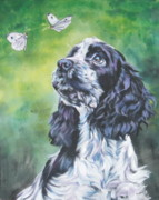 English Cocker Spaniel Posters - English Cocker Spaniel  Poster by Lee Ann Shepard