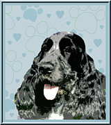 English Cocker Spaniel Posters - English Cocker Spaniel Poster by One Rude Dawg Orcutt