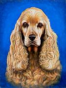 English Cocker Spaniel Posters - English Cocker Spaniel Poster by Yvonne Hazelton