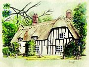 Fitzsimons Art - English cottage in cambridgshire by Morgan Fitzsimons