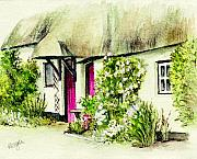 Country Cottage Prints - English Country Cottage series Print by Morgan Fitzsimons