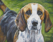 Foxhound Framed Prints - English Foxhound Framed Print by Lee Ann Shepard